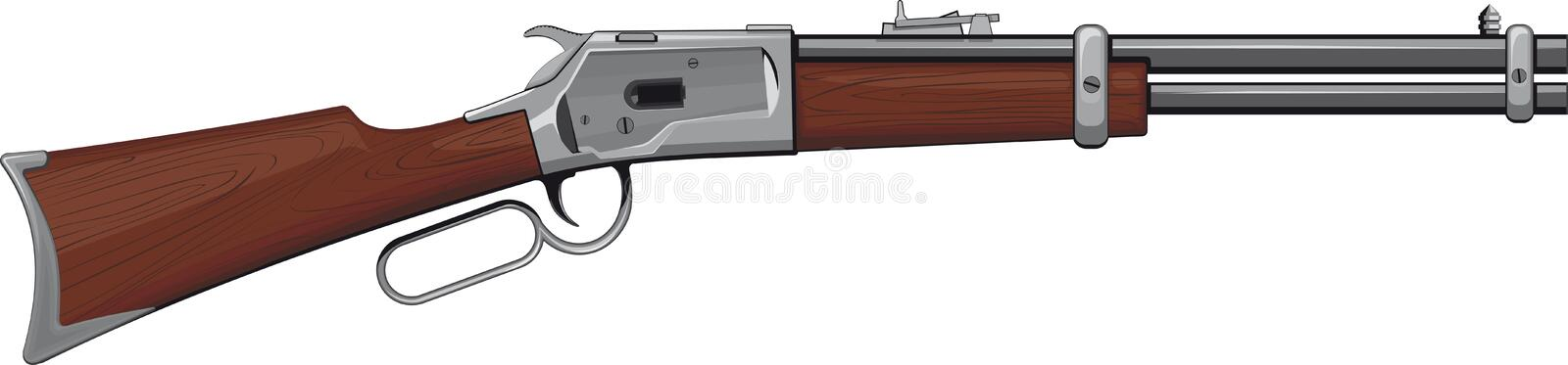 Download Lever Rifle stock vector. Illustration of hunting, color - 25447316