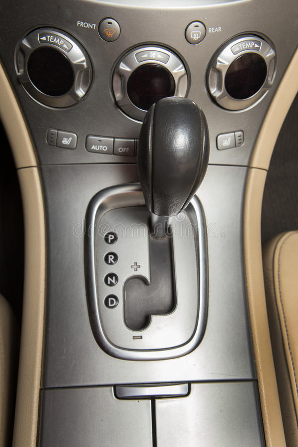 Lever of transmission of car royalty free stock image