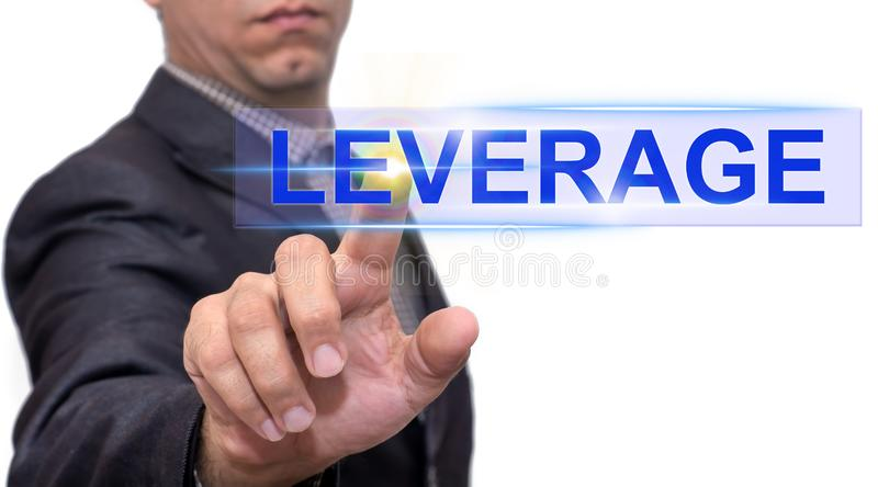 Leverage text with businessman royalty free stock photos