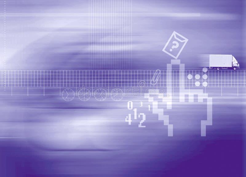 Leverans vektor illustrationer