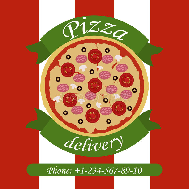 Download Leverans av pizza stock illustrationer. Illustration av italienare - 76702919