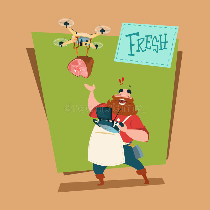 Leverans för surr för marknad för bondeSell Pork Meat produkter organisk vektor illustrationer