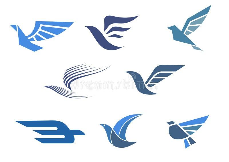 Leverans- och sändningssymboler stock illustrationer