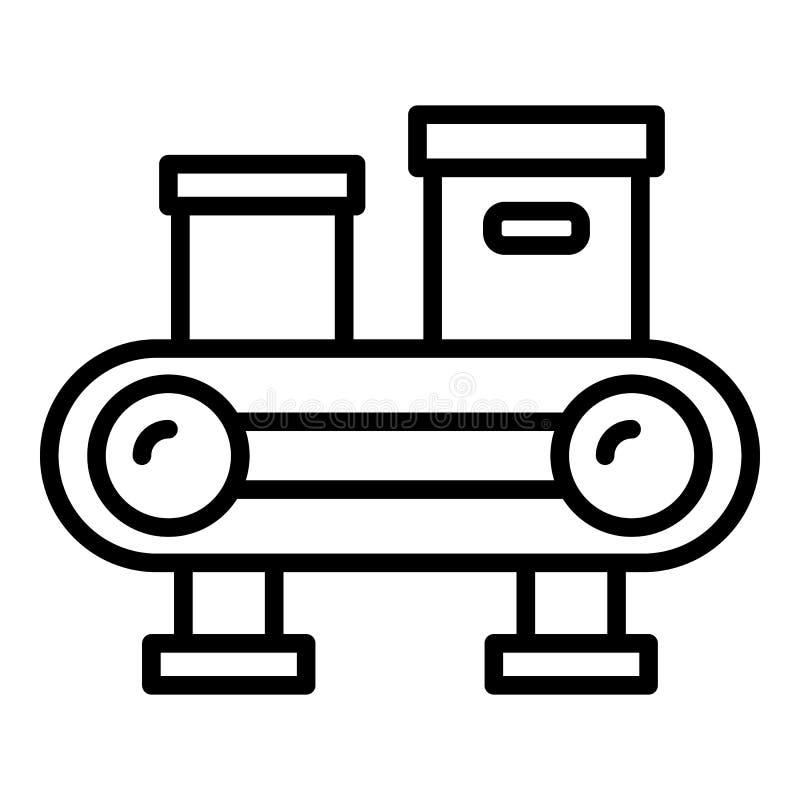 Leveransask som sorterar symbolen, översiktsstil stock illustrationer