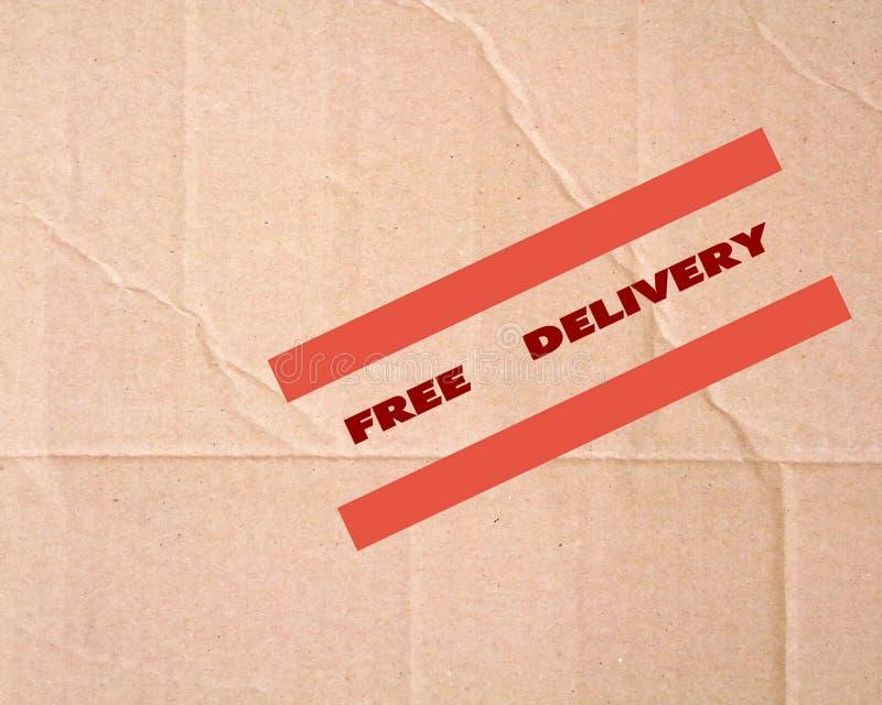 leveransen frigör tecknet arkivbild