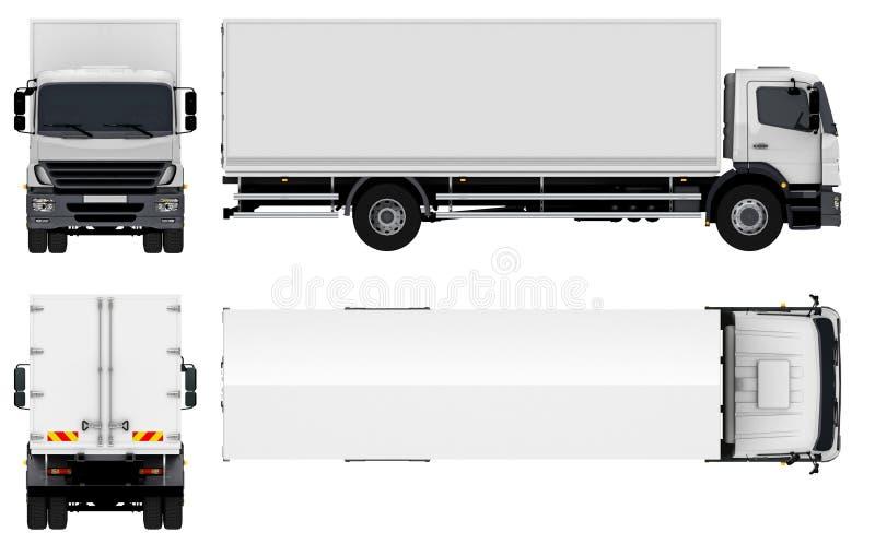 Leveransen/last åker lastbil royaltyfri illustrationer