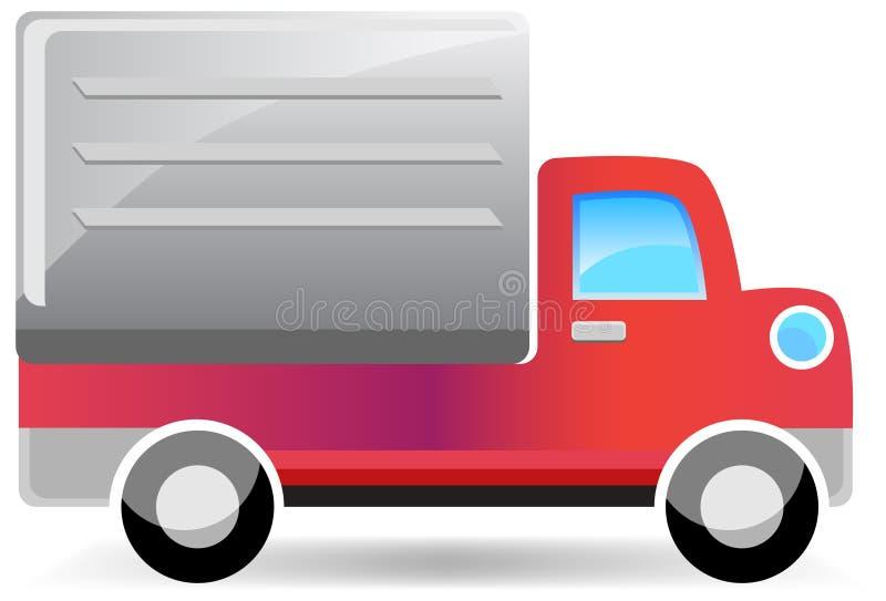 leveranslastbil vektor illustrationer