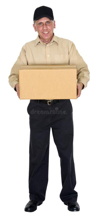 Leveransman som flyttar sig, frakt, sändnings, packe royaltyfria foton