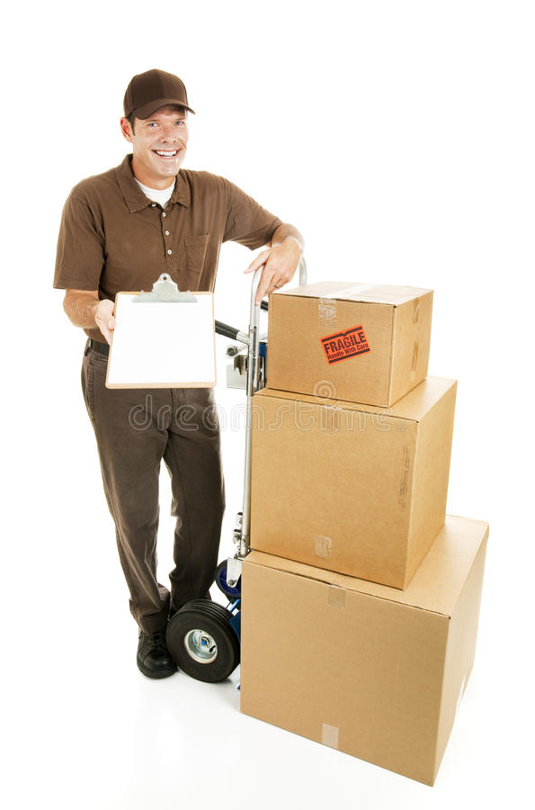 leveransmovertecken arkivbild