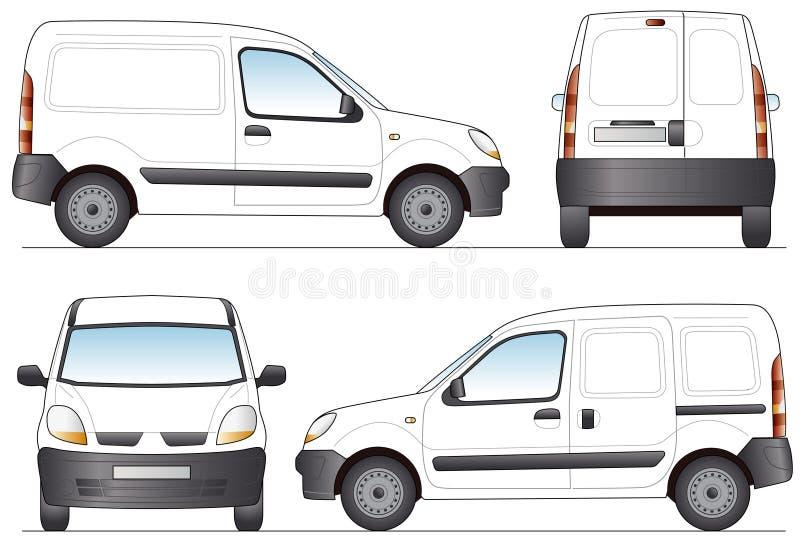 leveransskåpbil stock illustrationer