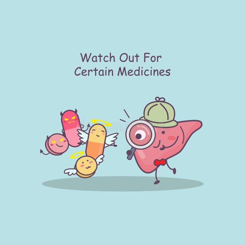 Leverhorloge uit voor geneesmiddelen vector illustratie