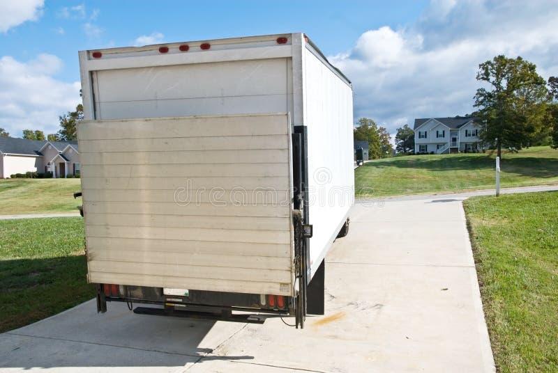 Levering/Bewegende Vrachtwagen of Bestelwagen stock afbeelding