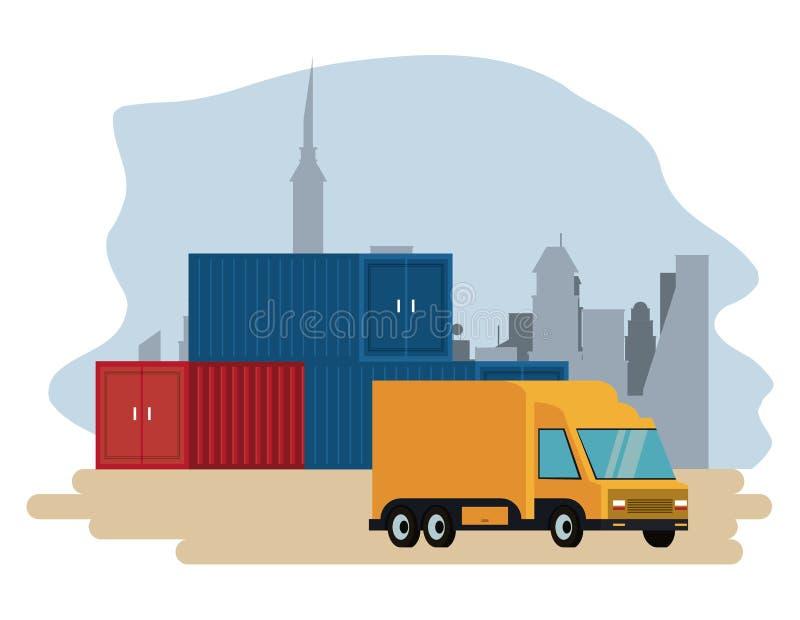 Levering en logistiek royalty-vrije illustratie