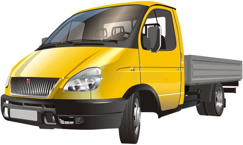 Levering/geïsoleerde ladingsvrachtwagen stock illustratie