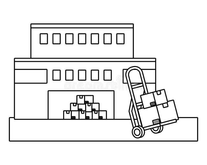 Levering het volgen de dienst logistisch verschepen vector illustratie