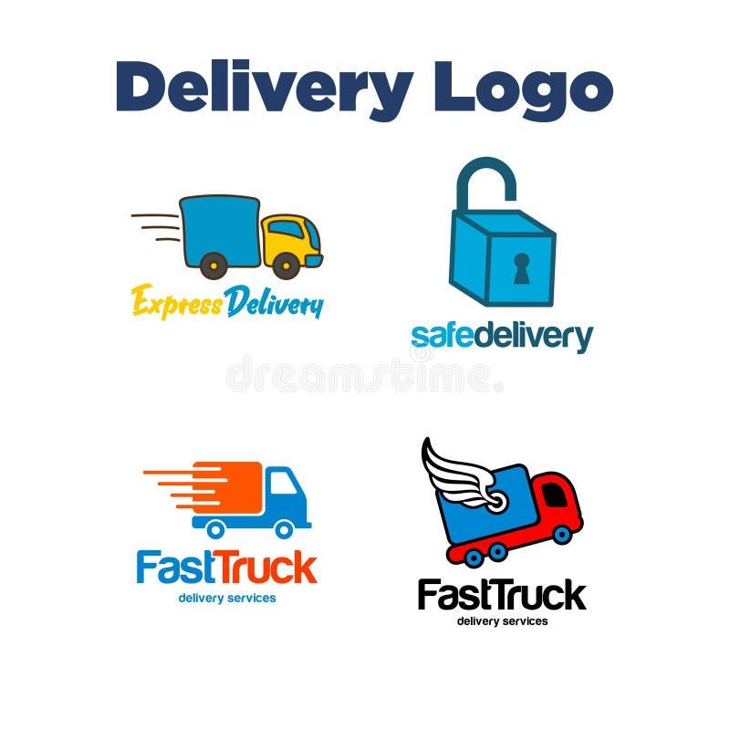 Levering Logo Template royalty-vrije illustratie