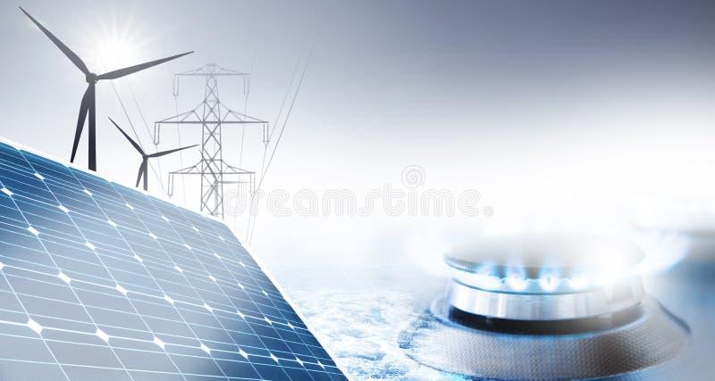 Levering van energie stock foto's