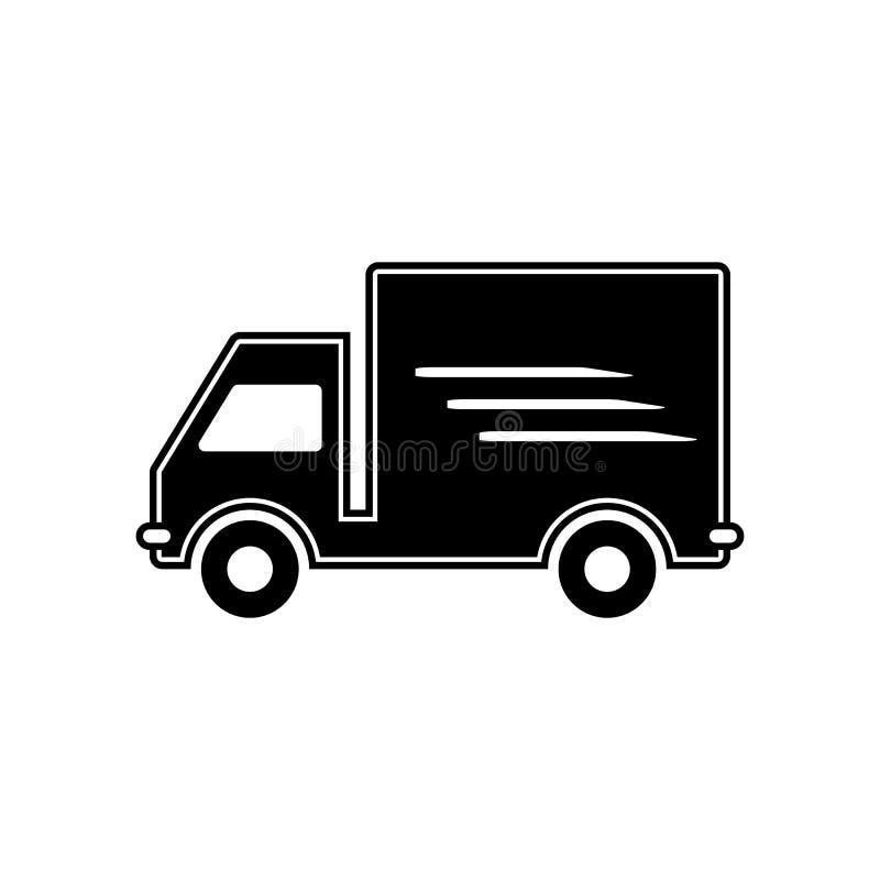 Leveringsauto vectoreps10 Het pictogram van de de dienstauto van de leveringsvrachtwagen De leveringspictogram van de vrachtwagen vector illustratie