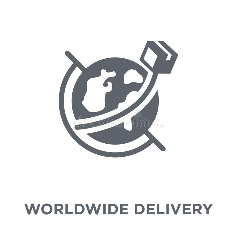 leveringspictogram wereldwijd van Levering en logistische inzameling royalty-vrije illustratie