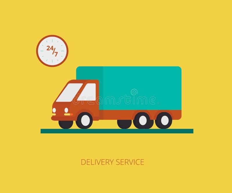 Leveringsvrachtwagen royalty-vrije illustratie