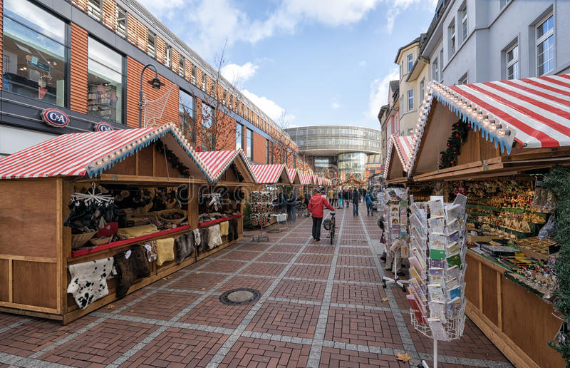 Leverkusen - boże narodzenie rynek obrazy royalty free