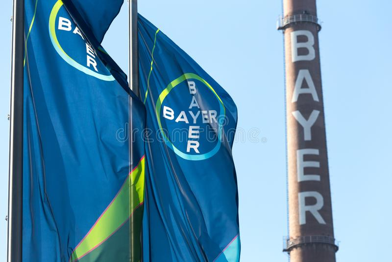 Leverkusen, Renania settentrionale-Vestfalia/Germania - 23 11 18: sedi di Bayer a Leverkusen Germania immagini stock