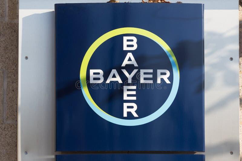 Leverkusen, Reno-Westphalia norte/Alemanha - 23 11 18: matrizes de bayer em leverkusen Alemanha fotos de stock royalty free