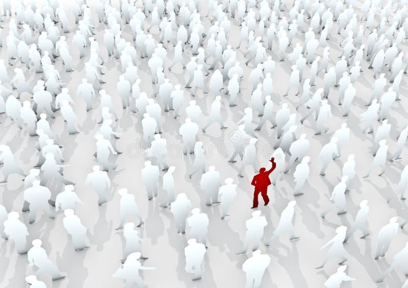 Levi in piedi fuori dalla folla