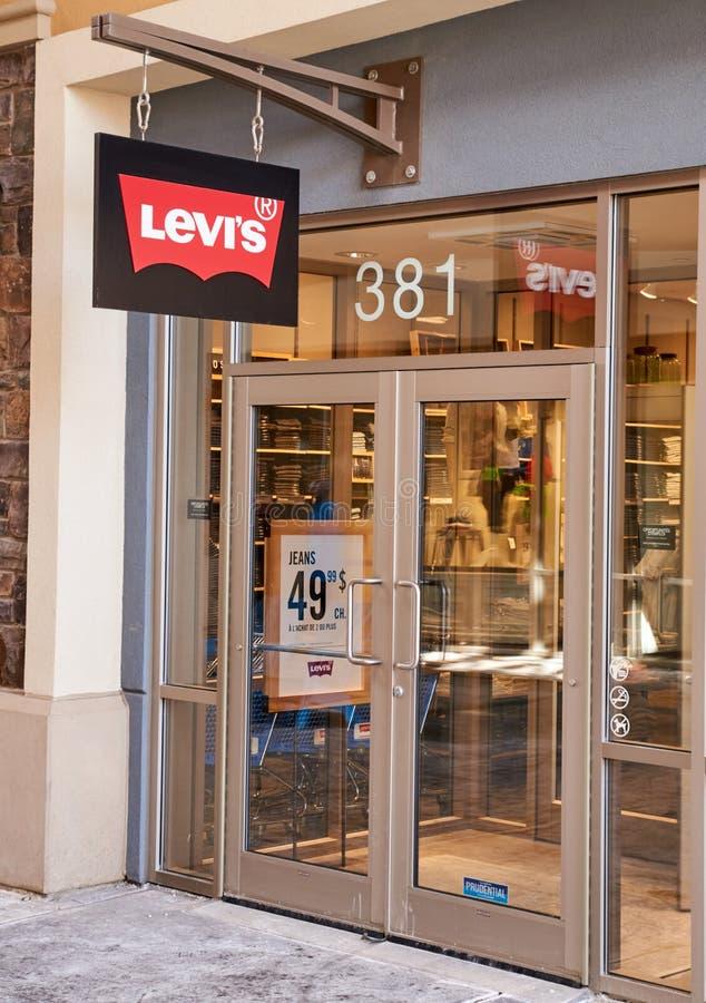Levi's-afzet royalty-vrije stock foto
