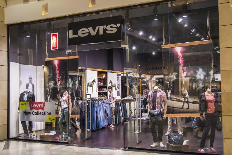Levi's salva fotografía de archivo