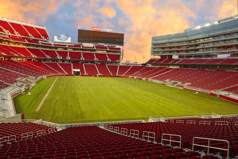 LEVI'S-Stadion, magischer Sonnenuntergang lizenzfreie stockbilder