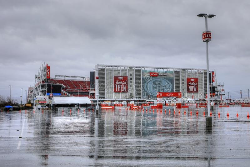 Levi`s Stadium in Santa Clara, California, United States. Home of the San Francisco 49ers of the NFL stock images