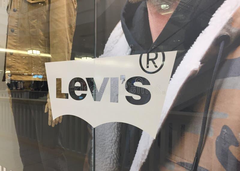 Levi's tecken royaltyfria foton