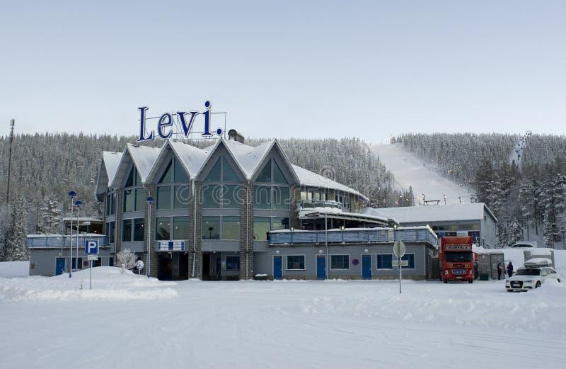 Levi ski resort, Lapland, Finland stock photography