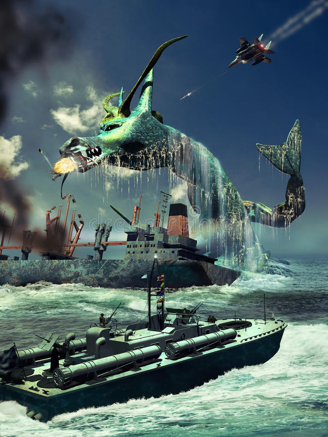Leviathan διανυσματική απεικόνιση