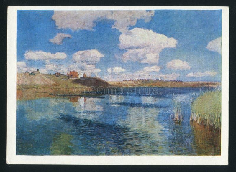 Levitan jezioro obrazy royalty free