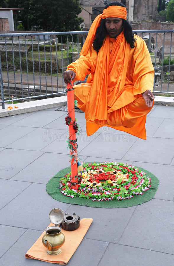 Levitating Artist royalty free stock photo