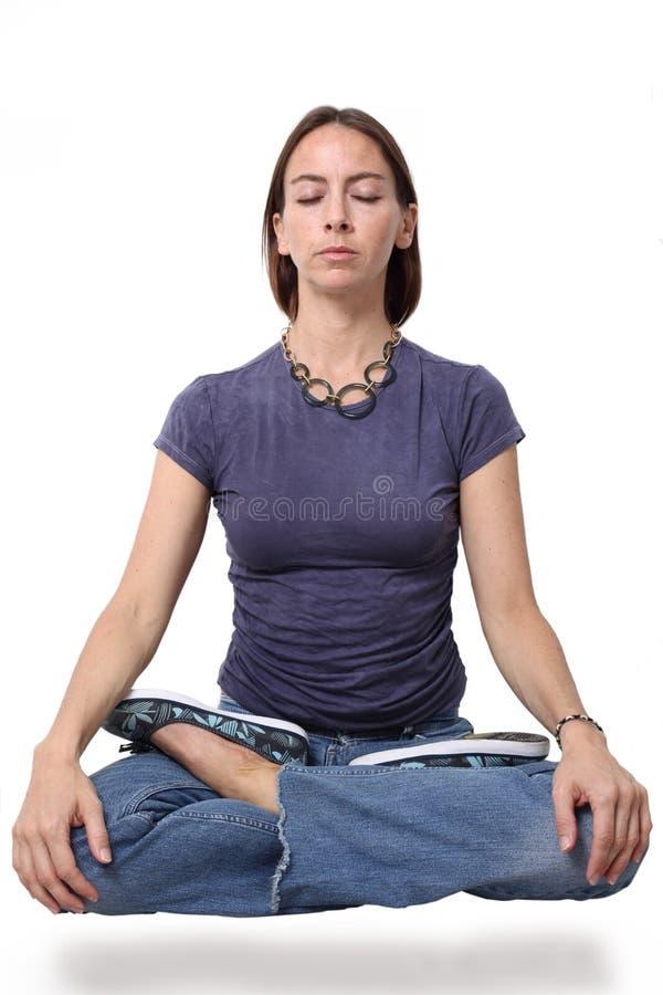 levitating meditating стоковые изображения rf