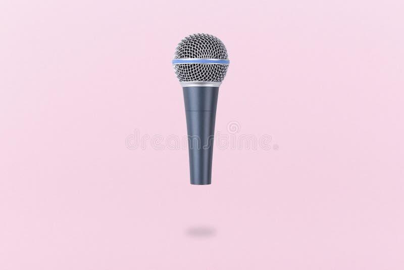 Levitating microphone stock photos