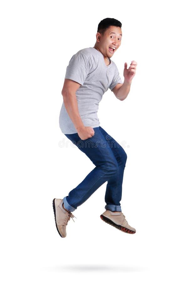 levitation Passeio de salto da dança do homem asiático novo fotos de stock