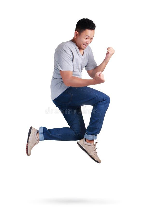 levitation Passeio de salto da dança do homem asiático novo imagem de stock royalty free