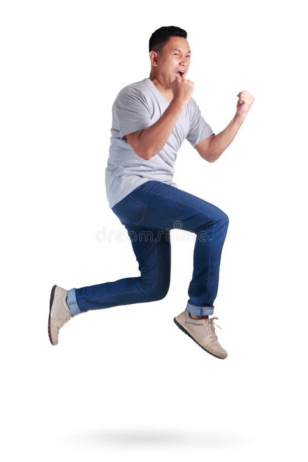 levitation Passeio de salto da dança do homem asiático novo fotografia de stock