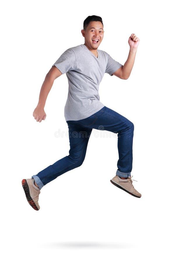 levitation Passeio de salto da dança do homem asiático novo imagem de stock
