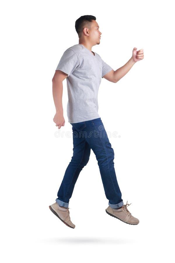 levitation Passeio de salto da dança do homem asiático novo foto de stock