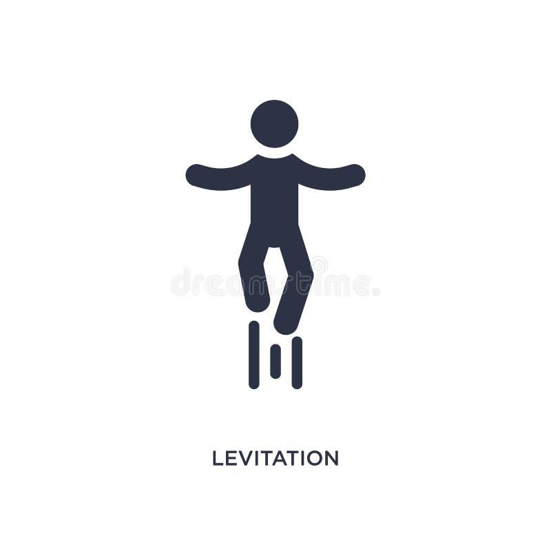 Levitationsikone auf weißem Hintergrund Einfache Elementillustration vom magischen Konzept lizenzfreie abbildung
