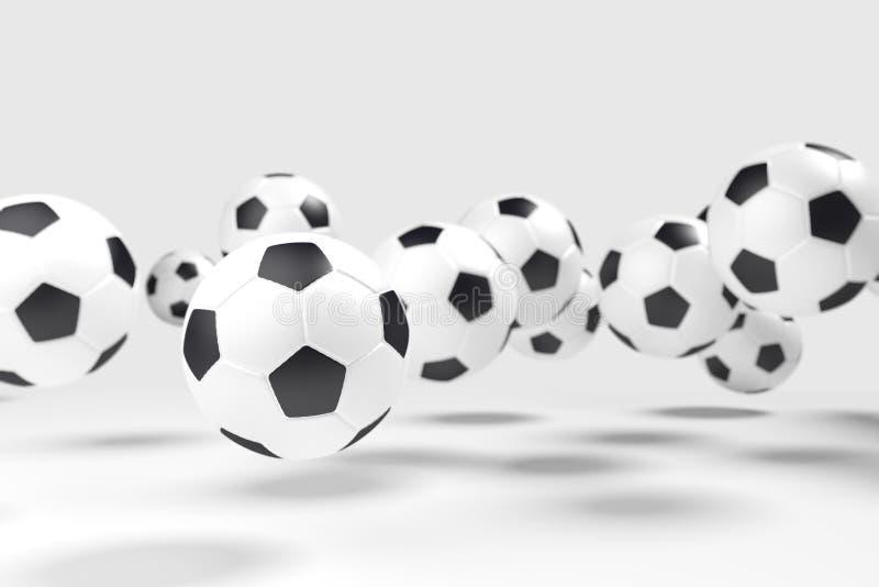 Levitazione dei palloni da calcio (calcio) fotografia stock libera da diritti
