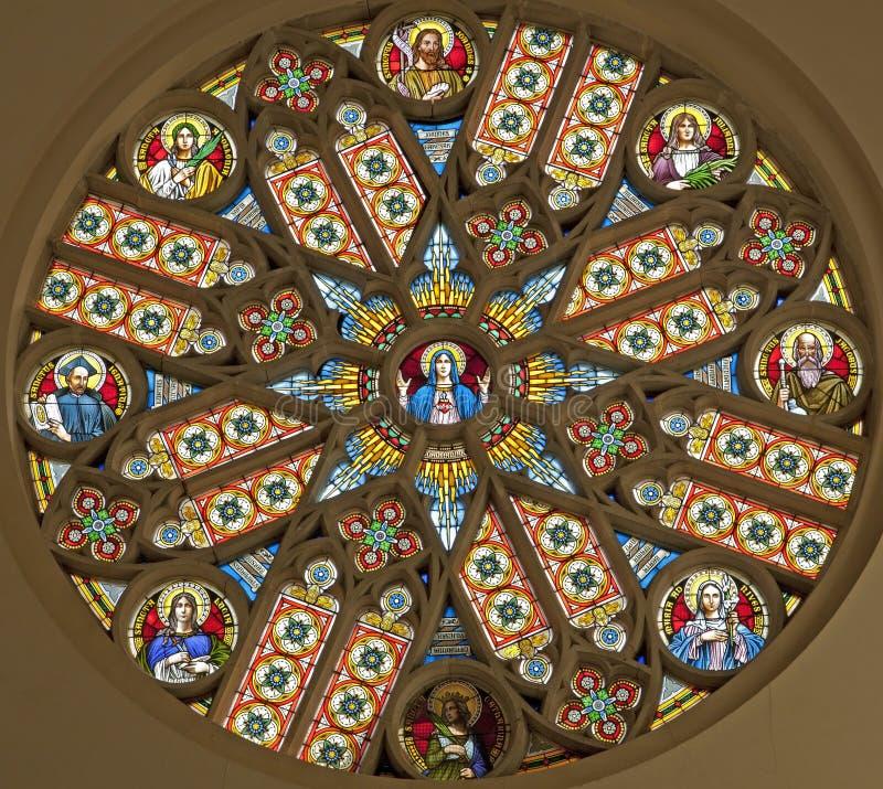 Levoca - Rosette i Basilica arkivfoton