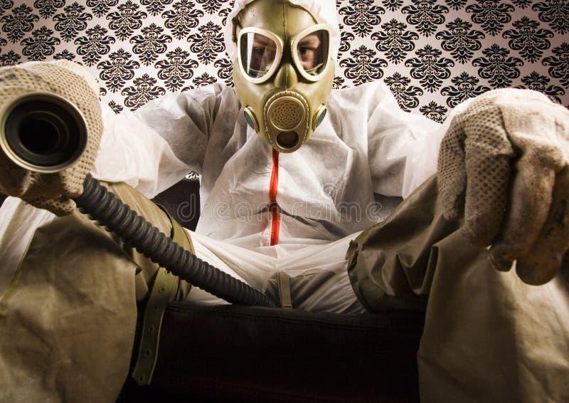 levrat blodmaskering för dr gas royaltyfri bild