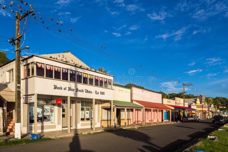 Levuka, Fiji Colourful wibrująca ulica stary kolonialny kapitał Fiji, Levuka miasteczko -, Ovalau wyspa, Fiji, Melanesia, Oceania obraz royalty free