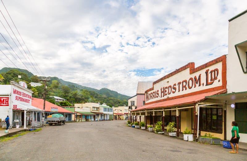 Levuka, Fiji Colourful wibrujące ulicy stary kolonialny kapitał Fiji, Levuka miasteczko -, Ovalau wyspa, Fiji, Melanesia, Oceania obraz stock